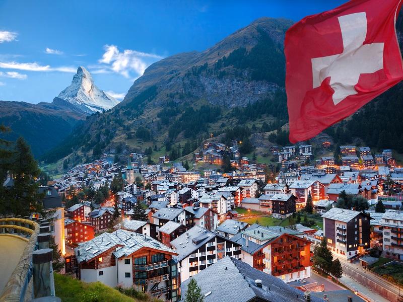 Schweiz med Glaciärexpressen